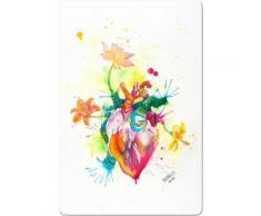 INOSIGN Glasbild »Buttafly - Nature Beating Heart«, 40/60 cm