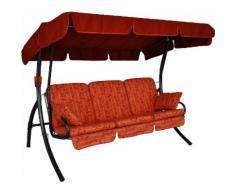ANGERER FREIZEITMÖBEL Hollywoodschaukel »Comfort Marbella«, 3-Sitzer, rot