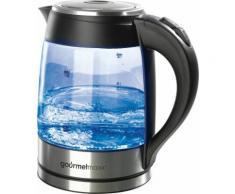 gourmetmaxx LED Glas-Wasserkocher, 1,8 Liter, 2200 Watt, schwarz