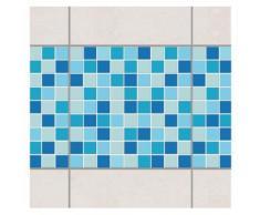 Bilderwelten Fliesen Bordüre Set 20x20 cm »Mosaik Meeresrauschen«