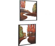 Home affaire Wanddeko »Baum« aus Metall, 2er-Set