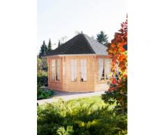 WOLFF FINNHAUS Holzpavillon »Roma 4.0«, BxT: 480x480 cm, mit schwarzen Schindeln