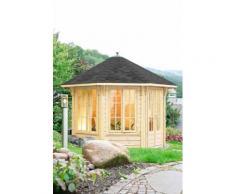 WOLFF Holzpavillon »Capri 3.5«, BxT: 430x430 cm, mit schwarzen Schindeln