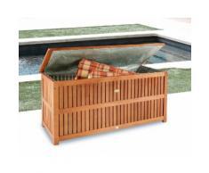 Auflagenbox , Eukalyptusholz, braun