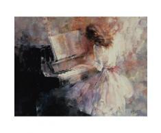 Uberlegen Artland Poster, Leinwandbild »Klavier Romantik Frau Musik Musiker Malerei«