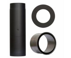 COLOR EMAJL Rauchrohr »Set 350 mm Länge in Schwarz«, Ø 130 mm, Ofenrohr für Kaminöfen