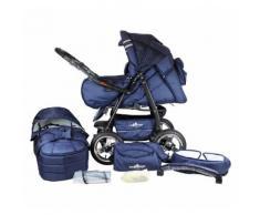 Bergsteiger Kombi Kinderwagen Rio, 10 tlg., marine blue