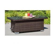 Loungetisch »Bari Deluxe«, Polyrattan, 120x60x45-68 cm, höhenverstellbar