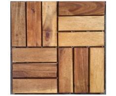 Merxx Holz-Fliesen »Akazie« mit Klick-Verbindung, Fläche: 0,9 m²/Paket, braun