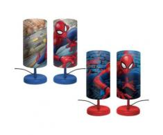 Nachttischlampe, Spider-Man blau/rot