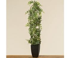 Kunstpflanze mit Rankhilfe im Topf 80 cm grün