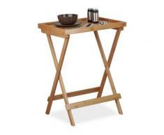 Bambus Tablett-Tisch beige
