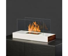 muenkel design plain fire Ethanol Tischkamin: Weiß