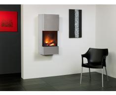 muenkel design wall flip Elektrokamin Opti-myst heat: Edelstahl, matt - Mit Heizung