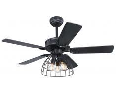 Deckenventilator Sallie schwarz 106 cm mit Beleuchtung