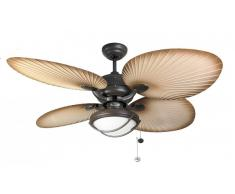 Outdoor Deckenventilator Palm Chocolate Brown mit Licht