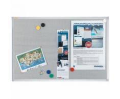 Franken Pinnwand Pin n Mag PM3602, 90 x 60 cm, mit Metallgitter, mit Aluminiumrahmen, grau