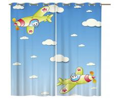 Ösenschal Set 2teilig '' Fly - Kinderzimmer  ''