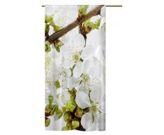 Schlaufenschal Apfelblüte, Sommer Schlaufenvorhang
