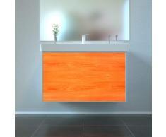 Badmöbel Wooden Leucht-Front Eiche Holz mit Villeroy & Boch Waschbecken 80cm
