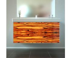 Badmöbel Wooden Leucht-Front Apfel Holz mit Villeroy & Boch Waschbecken 100cm