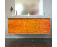 Badmöbel Wooden Leucht-Front Eiche Holz mit Villeroy & Boch Waschbecken 130cm