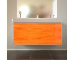 Badmöbel Wooden Leucht-Front Eiche Holz mit Villeroy & Boch Waschbecken 100cm