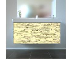 Badmöbel Wooden Leucht-Front Birke Holz mit Villeroy & Boch Waschbecken 100cm