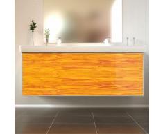 Badmöbel Wooden Leucht-Front Esche mit Villeroy & Boch Doppelwaschbecken 130cm