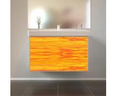 Badmöbel Wooden Leucht-Front Esche Holz mit Villeroy & Boch Waschbecken 80cm