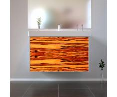 Badmöbel Wooden Leucht-Front Apfel Holz mit Villeroy & Boch Waschbecken 80cm