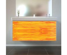 Badmöbel Wooden Leucht-Front Esche Holz mit Villeroy & Boch Waschbecken 100cm