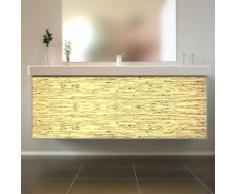 Badmöbel Wooden Leucht-Front Birke Holz mit Villeroy & Boch Waschbecken 130cm