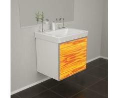 Badmöbel Wooden Leucht-Front Esche Holz mit Villeroy & Boch Waschbecken 55cm