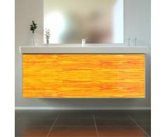 Badmöbel Wooden Leucht-Front Esche Holz mit Villeroy & Boch Waschbecken 130cm