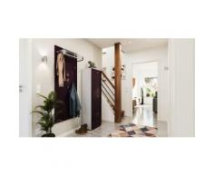 Garderobe Set 056 Comfort 2 tlg Schuhschrank 3 Klappen 12 Paar Weiss-Brombeer