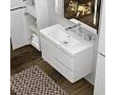 Treos Serie 920 Waschtisch mit Waschtischunterschrank B: 89,8 H: 55 T: 47,7 cm, 2 Auszüge ohne Hahnloch 921.05.0902
