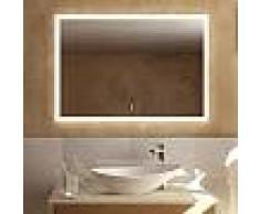 Treos Serie 620 Spiegel mit LED-Beleuchtung B: 100 H: 70 T: 4,1 cm 620.06.8100, EEK: A+