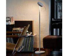 belux u-turn-10 LED Stehleuchte mit Dimmer Ø 23.1 H:113.3 cm, telegrau/satiniert UTN10-13-TD-8027, EEK: A+