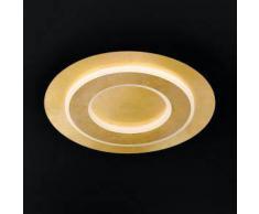Wofi Granada LED Deckenleuchte rund Ø 45 H: 6,5 cm, gold matt 9386.01.15.7450, EEK: A+