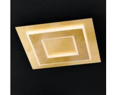 Wofi Granada LED Deckenleuchte eckig B: 45 H: 6,5 T: 45 cm, gold matt 9386.01.15.7000, EEK: A+