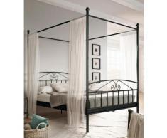 Home affaire Metallbett Birgit, mit einem schönen Betthimmel, aus Metallgestell schwarz Doppelbetten Betten
