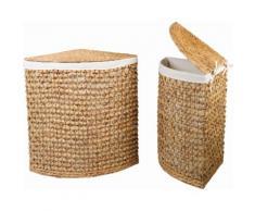 Home affaire Wäschebox (Set, 2 Stück) beige Wäschetonnen Wäschekörbe Wäschetruhen Badmöbel Wäschesammler
