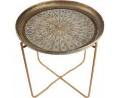 Home affaire Tablett-Tisch, goldfarben, goldfarben
