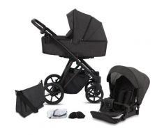 Knorrbaby Kombi-Kinderwagen Luzon Black Edition, Schiefer, 15 kg, Gestell faltbar; Made in Europe; Kinderwagen grau Kinder Kombikinderwagen Buggies