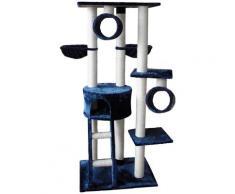 SILVIO design Kratzbaum Merlin, hoch, BxTxH: 80x50x168 cm blau Kratz- Kletterbäume Katze Tierbedarf