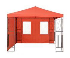 Tepro Pavillonseitenteile, (Set bestehend aus 1 Seitenteil geschlossen, mit 2 Fenstern), passend für Pavillon Kaemi rot Pavillonseitenteile Pavillons Garten Balkon