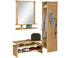Home affaire Garderoben-Set Set, beige, natur geölt