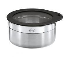RÖSLE Frischhaltedose, (1 tlg.), zur Aufbewahrung von Lebensmitteln, Glasdeckel mit Silikonrand, spülmaschinengeeignet silberfarben Küchenhelfer Haushaltswaren Frischhaltedose