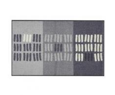 Fußmatte PreisstarSASKIA waschbar grau Fußmatten gemustert